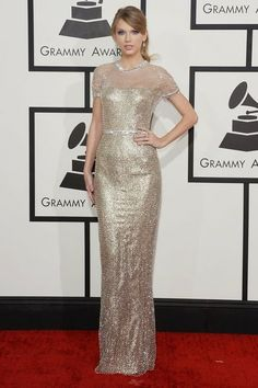 Taylor Swift in Gucci - Grammy Awards Red Carpet 2014