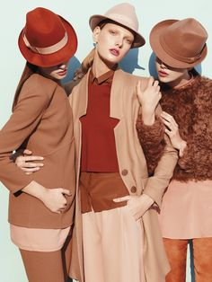Multiple tints, tones, and shades of orange [some with a little pink] in twenty-something fashion. by Emilio Tini, styled by Elena Bellini for FLAIR Terracota, Jessica Parker, Parasols, Orange You Glad, Love Hat, Color Stories, Colorful Fashion, Orange Fashion, Color Combinations
