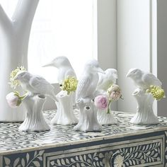 Welcome the dawn chorus. Purist bird bud vase.