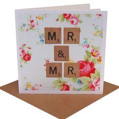Special vintage gay wedding card