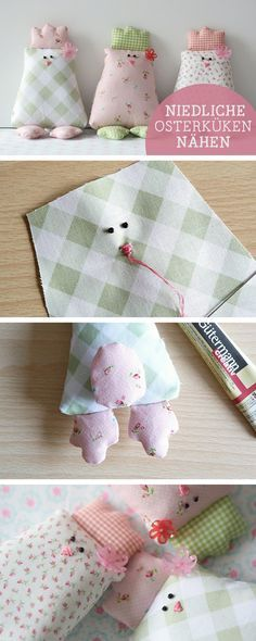 Oster-DIY: Nähanleitung für niedliche Küken, Osterdeko / diy sewing tutorial for easter chicken via DaWanda.com
