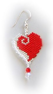 Heart earrings #beadwork
