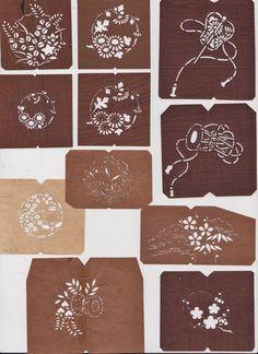 Japanese original Kazari-mon  Pattern pieces #japan #traditional #embroidery