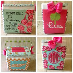 Big Little Reveal Cooler, Lilly Pulitzer, University of Tennessee, Alpha Omicron Pi