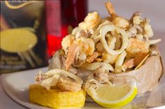 mixed fried fish from Bastian gastronomy - Marostica