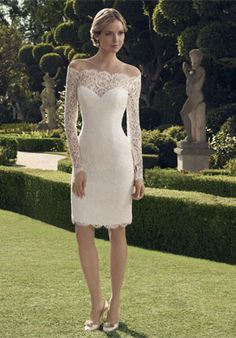 short wedding dresses 2014 Picture - More Detailed Picture about Vestido De Noiva Curto Vintage Short Wedding Dress 2014 Long Sleeve Lace Wedding Dresses Bridal Gown Robe De Mariage Casamento Picture in Wedding Dresses from Suzhou Victoria Dress Co. Short Lace Wedding Dress, Civil Wedding Dresses, Wedding Dress Styles, Bridal Dresses, Wedding Gowns, Lace Dress, Bridesmaid Dresses, Prom Dresses, Evening Dresses