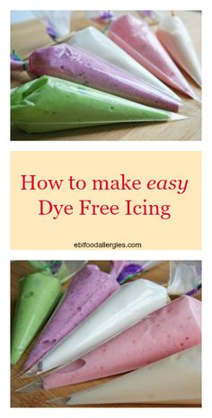 How to make EASY Dye-Free Icing