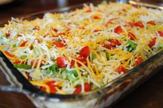 My husband's birthday is July 4th, and every year his mom and stepdad throw a big party for him and his twin brother. I helped to make a couple of dishes – a 7 layer Mexican dip and wha…