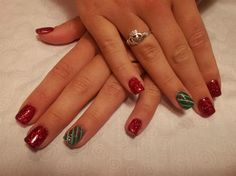 Tiger lillies with white tips love and marriage pinterest christmas by gelousynailz from nail art gallery prinsesfo Gallery
