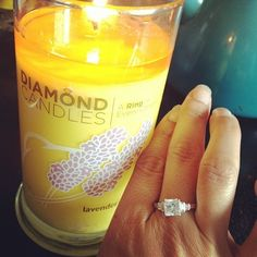 The ring I got in my candle. It's too big and one of the $10 rings, but a fun concept. #diamondcandles