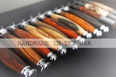 All Imperium razors and shaving sets are made by hand in the USA from select hardwoods. http://www.imperiumwood.com/