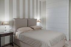 bedroom stripes light beige