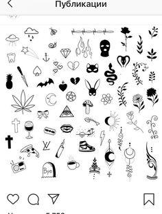 Cute Tiny Tattoos, Dainty Tattoos, Cool Small Tattoos, Dope Tattoos, Small Tattoo Designs, Mini Tattoos, Easy Tattoos, Free Tattoo Designs, Seele Tattoo