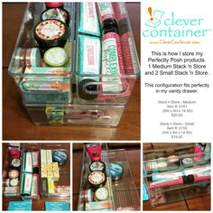 Clever organization for your Perfectly Posh products