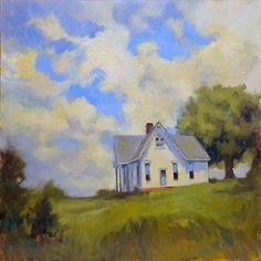 House on the Hill by Donna Shortt Oil ~ 20 x 20