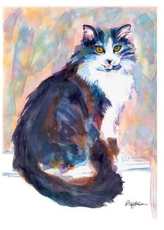 "Daily Paintworks - ""Sitting Pretty"" - Original Fine Art for Sale - © Pamela Gatens"
