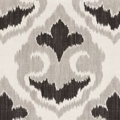 Florentina Ikat Gray Fabric by the Yard - Ballard Designs Ikat Curtains, Ikat Pillows, Ikat Fabric, Chair Fabric, Grey Fabric, Hallway Curtains, Pillow Fabric, Baby Bean Bag Chair, Black And White Google