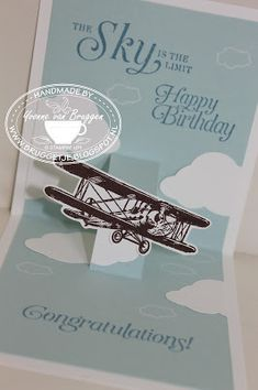 Yvonne is Stampin' & Scrapping: Stampin' Up! Sale-a-Bration 2016 Sky is the Limit Stampin Up Sale A Bration 2016, Birthday Cards For Boys, Hand Made Greeting Cards, Stampinup, Card Companies, Fathers Day Cards, Unique Cards, Pop Up Cards, Masculine Cards