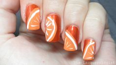 The Lacquerologist: 31 Day Nail Art Challenge: Day 2 - Orange Nails