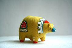 felt bear by Mount Royal Mint