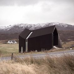 House in the Scottish Highlands by London office Raw Architecture Workshop. dezeen.com/tag/black-houses