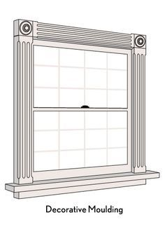 New kitchen window frame decor Ideas Molding Around Windows, Window Moulding, Window Frame Decor, Custom Blinds, Door Casing, Wooden Windows, Moldings And Trim, Decorative Trim, Home Upgrades