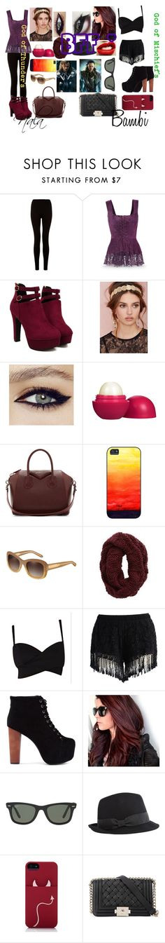 """Brother God's Girlfriends"" by oreokk22 ❤ liked on Polyvore featuring Berry, Eos, Givenchy, Burberry, Aerie, Chicwish, Jeffrey Campbell, Ray-Ban, Calypso Private Label and Kate Spade"