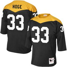 Merril Hoge Men's Elite Black Jersey: Nike NFL Pittsburgh Steelers Home #33 1967 Throwback