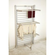 Dry-Soon Heated Tower Airer (lakeland) Could be good in the cupboard by the rear door, as an airing cupboard. Drying Cupboard, Utility Cupboard, Cupboard Storage, Laundry Nook, Laundry Drying, Laundry Room Design, Heated Clothes Airer, Clothes Drying Racks, Small Utility Room