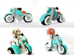 To Creativity & Marlon, the Biker Dog - Crochet Cross, Knit Or Crochet, Cute Crochet, Crochet Dolls, Crafty Projects, Crochet Projects, Amigurumi Patterns, Crochet Patterns, Crochet Animals
