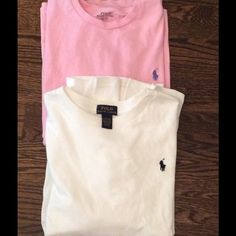 2 Ralph Lauren Polo tees Bundle of Polo tees. Pink is size small and is a801c61f38b4