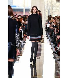 Knee-high socks at Tory Burch F/W 2014 // Click to see the full collection!