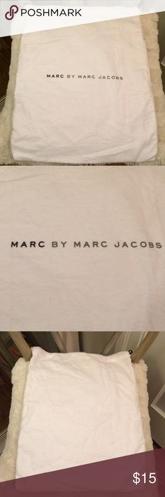 """Marc By Marc Jacobs Dust Bag 15 1/2 """" L x 12 1/2"""" W. soft flannel material. White with black & gray writing. Protect your investment Marc by Marc Jacobs Bags"""