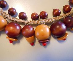 Unsigned Miriam Haskell Big Wood Glass Bead Beads 1930s Vintage Necklace | eBay