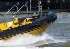 Rigid Hulled Inflatable Boat - Stock Image