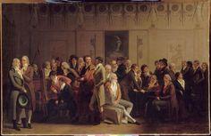 Louis-Léopold BOILLY - Réunion d'artistes dans l'atelier d'Isabey -   Salon de 1798 - Louvre