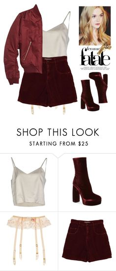 """""""The Neon Demon"""" by alliedaddysgirl ❤ liked on Polyvore featuring Erika Cavallini Semi-Couture, Miu Miu, Rock Rebel, Agent Provocateur, Topshop and vintage"""