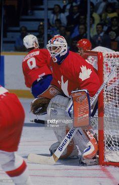 canadian-professional-hockey-player-grant-fuhr-goalie-for-team-canada-picture-id53316639 (658×1024) Hockey Goalie, Hockey Players, Ice Hockey, Canada Cup, Canada Pictures, Goalie Mask, Hockey Stuff, Nfl Fans, National Hockey League