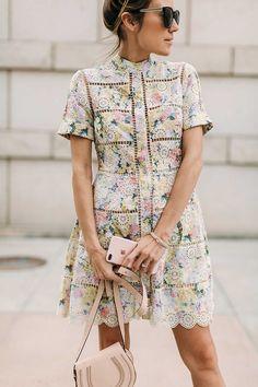 hydrangea eyelet dress on Hello Fashion
