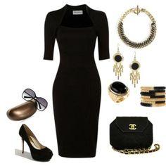 Black dress sleeve