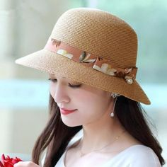 3afd485ff2c30 34 best Similar ladies straw hats with flower summer beach hats ...