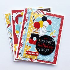 """Birthday Cards by Dorymar Perez for #EchoParkPaper featuring the """"Magical Birthday Boy"""" Collection Birthday Cards For Boys, It's Your Birthday, Handmade Birthday Cards, Boy Birthday, Echo Park Paper, Boy Cards, Card Sketches, Papers Co, Fun Projects"""