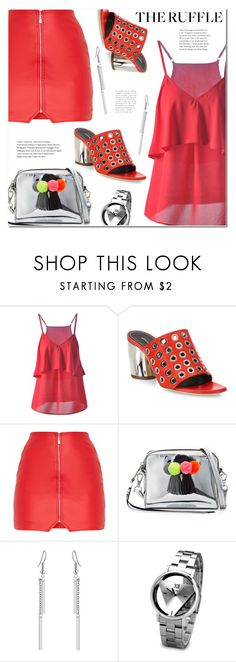 """""""Add Some Flair: Ruffled Tops"""" by ansev ❤ liked on Polyvore featuring Proenza Schouler, Rebecca Minkoff and Barneys New York"""