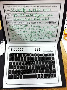 First Grade Literacy Idea: Compose & Write emails to Book Characters (via another day in first grade)