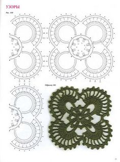 crochet motif chart.....good motif for joining into doilys.table runners,placemats,etc...