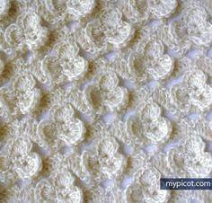 MyPicot | Free crochet patterns: Shamrock Stitch