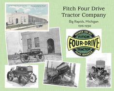 Fitch Four Drive Tractor Company book made thru shutterfly Big Rapids, Four Wheel Drive, Shutterfly, Farming, Tractors, Michigan, Advertising, History, Book