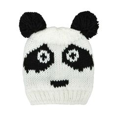 PANDA FACE BEANIE Latest Fashion For Women, Fashion Online, Womens Fashion, Knitted Hats, Panda, Beanie, Clothes For Women, Knitting, Face