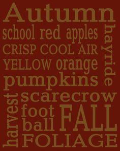 Free printable - Autumn subway art