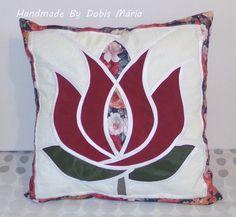 Tulipános díszpárna huzat (DobisMaria) - Meska.hu